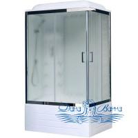 Душевая кабина Royal Bath RB 8100BP3-WC-CH L 100х80 (белое/матовое)