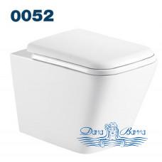 Унитаз подвесной Azario Teramo 0052 безободковый с сиденьем Soft Close