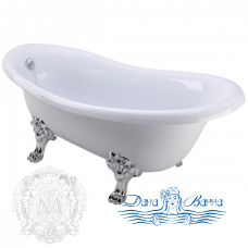 Ванна из литьевого мрамора Migliore Bella 170x80, на лапах Migliore, хром