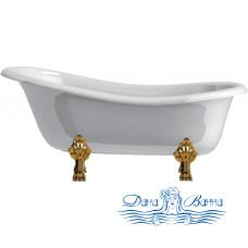 Ванна из искусственного камня Астра Форм Роксбург ножки золото