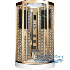 Душевая кабина Niagara Lux 7715G золото 90х90