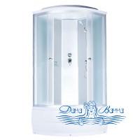 Душевая кабина Aquapulse 4303D fabric white 100х100