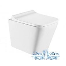 Унитаз подвесной CeramaLux 5171 с сиденьем Soft Close, белый глянцевый