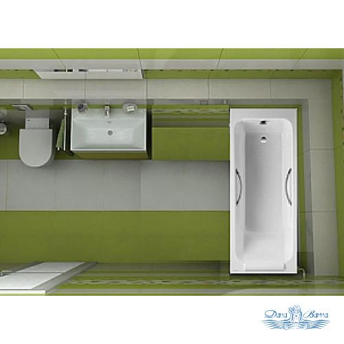 Чугунная ванна Jacob Delafon Parallel E2949 150x70 с ручками