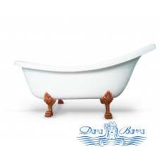 Ванна из литьевого мрамора Castone Даллас King Size 175x85 ножки бронза