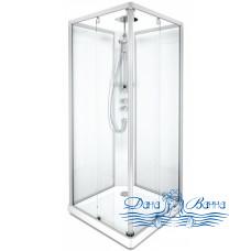 Душевая кабина IDO Showerama 10-5 Square 90х90 профиль хром, стекло прозрачное