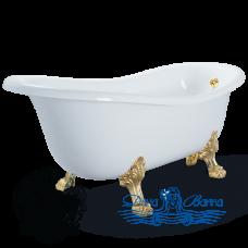 Ванна из литьевого мрамора Migliore Bella 170x80, на лапах Migliore, золото