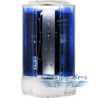 Душевая кабина Aquapulse 3302A blue mirror 90х90