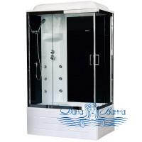 Душевая кабина Royal Bath RB 8100BP3-BT-CH L 100х80 (черное/прозрачное)