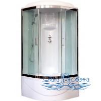 Душевая кабина Royal Bath RB 100BK6-WT-CH 100х100 (белое/прозрачное)