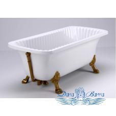"""Ванна из литьевого мрамора Migliore OLIVIA 175x85, на лапах """"LEON"""" Standart, бронза"""