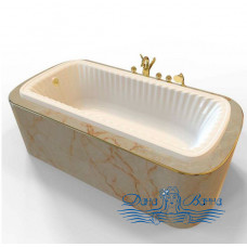Ванна из литьевого мрамора Migliore OLIVIA Podium 175x80, встраиваемая, бронза