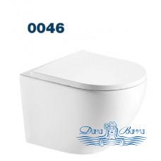 Унитаз подвесной Azario Grado 0046 безободковый с сиденьем Soft Close