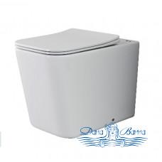 Унитаз напольный Ceramica Nova Cubic Rimless CN1809 с сиденьем SoftClose