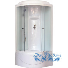 Душевая кабина Royal Bath RB 100BK6-WC 100х100 (белое/матовое)