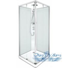 Душевая кабина IDO Showerama 10-5 Square 90х90 профиль хром, задние стекла матовые