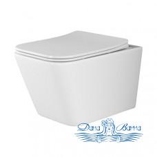Унитаз подвесной Ceramica Nova Metric Rimless CN3007 с сиденьем SoftClose