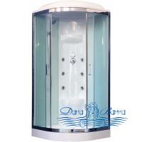 Душевая кабина Royal Bath RB 100HK7-WT-CH 100х100 (белое/прозрачное)
