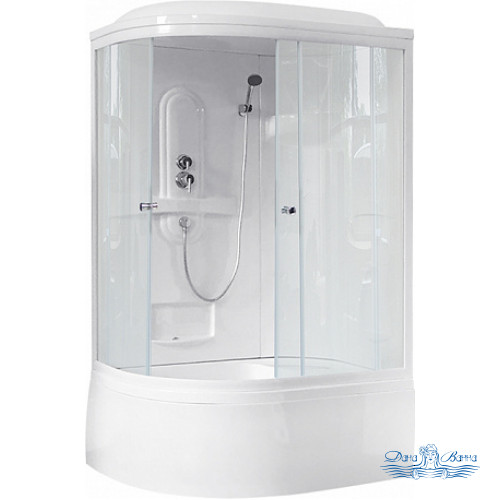 Душевая кабина Royal Bath RB 8120BK1-T R 120х80 (прозрачное)
