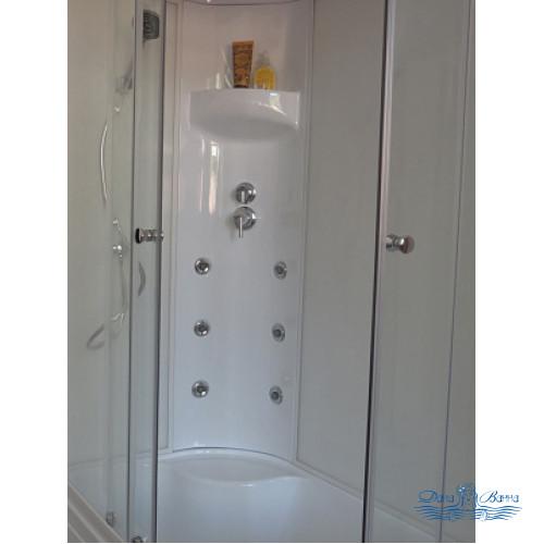 Душевая кабина Royal Bath RB 8120BK3-WT L 120х80 (белое/прозрачное)