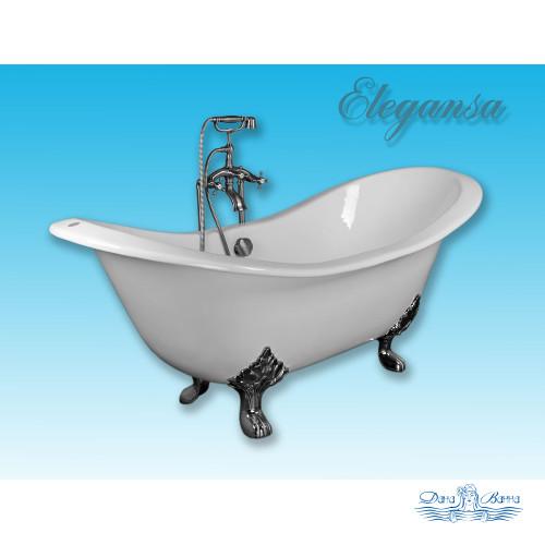 Чугунная ванна Elegansa Taiss Chrome 180х80