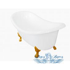 Ванна из литьевого мрамора Castone Корсика 190x86 ножки золото