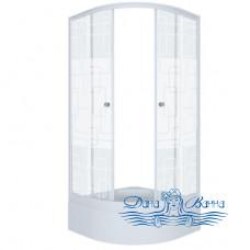 Душевой уголок Triton Стандарт В 90х90 стекло квадраты