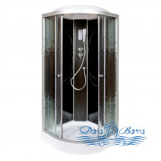 Душевая кабина Deto L 809 BLACK с электрикой (90x90)