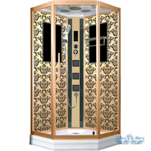 Душевая кабина Niagara Lux 7717G золото 100х100