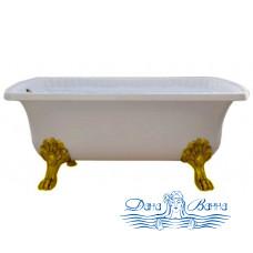 Ванна из литьевого мрамора Migliore OLIVIA 175x80, на лапах Migliore, золото