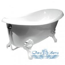 Ванна из литьевого мрамора PAA Victoria 170x85 c каменными ножками Antica в белом