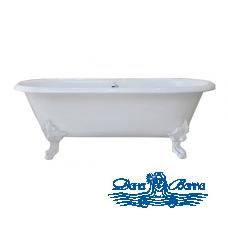 Чугунная ванна Magliezza Patricia 168x76 ножки белые