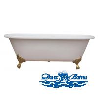 Чугунная ванна Magliezza Patricia 183x80 ножки бронза