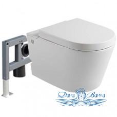 Унитаз подвесной Cerutti C-380C с инсталляцией, с импульсным смывом, с сиденьем SoftClose