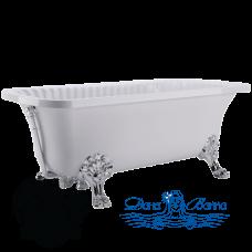 Ванна из литьевого мрамора Migliore OLIVIA 175x80, на лапах Migliore, хром