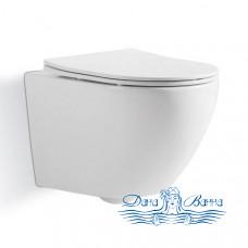Унитаз подвесной CeramaLux 2197 с сиденьем Soft Close, белый
