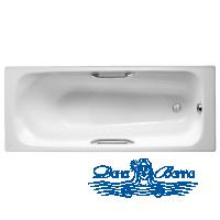 Чугунная ванна Jacob Delafon Melanie 170x70 E2925 с ручками