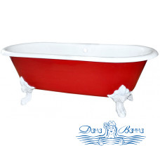 Чугунная ванна Elegansa Flamme White (170х75)
