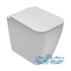 Унитаз приставной Globo Stone ST002.BI с системой скрытого крепежа, цвет белый