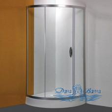 Душевой уголок Am.Pm Bliss L Solo Slide 90х90 профиль хром, стекло прозрачное