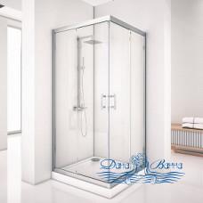 Душевой уголок Aquanet Alfa Cube NAA1142 100х100 стекло прозрачное, профиль хром