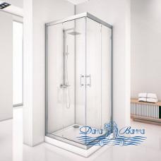 Душевой уголок Aquanet Alfa Cube NAA1142 90х90 стекло прозрачное, профиль хром