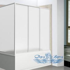 Шторка на ванну Bas для ванны Лима 3 створчатая, пластик