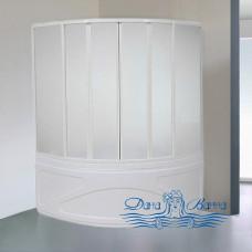 Шторка на ванну Bas для ванны Риола 6 створчатая, пластик