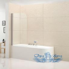 Шторка на ванну Cezares Eco O-V-1-80/140-C-Cr стекло прозрачное