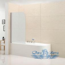 Шторка на ванну Cezares ECO-O-V-1-80/140-P-Cr-L стекло punto