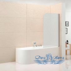 Шторка на ванну Cezares Eco V-1-80/140-P-Cr-R стекло punto