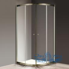 Душевой уголок Cezares Giubileo-R2-90 прозрачное стекло, бронза 90х90
