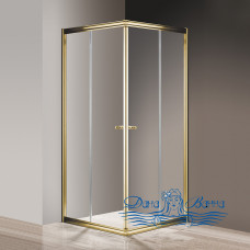 Душевой уголок Cezares Giubileo-A-2-90 прозрачное стекло, золото