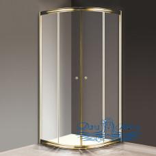 Душевой уголок Cezares Giubileo-R2-80 прозрачное стекло, золото 80х80